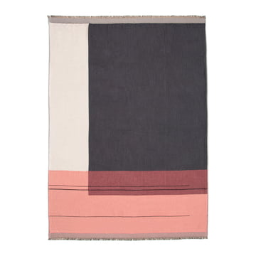 Couverture Colour Block de ferm Living en rose