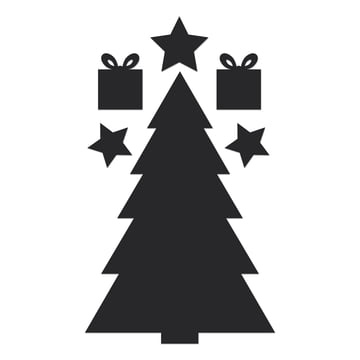 Chalkboard Christmas Tree par Donkey Products