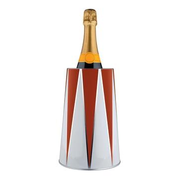 Seau rafraîchisseur de bouteille Circus 120cl d'Alessi avec bouteille de champagne