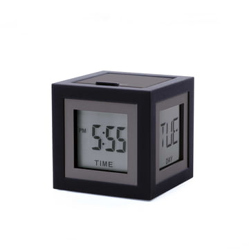 Le réveil LCD Cubissimo de Lexon en gun