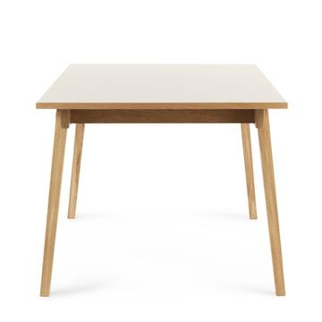 Slice Table Linoleum 90 x 200 cm von Normann Copenhagen en couleur Crème
