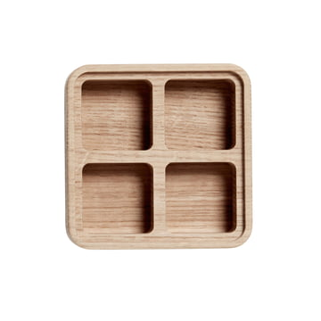 Boîte Create Me 12 x 12 cm 4 rayons d'Andersen Furniture en bois de chêne