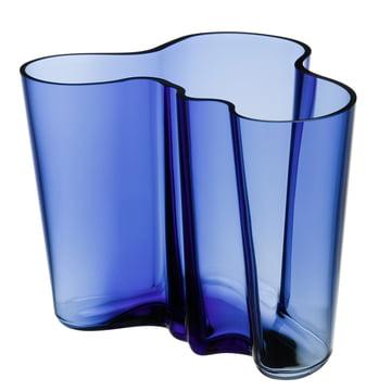Vase Aalto Savoy d'Iittala en bleu outremer