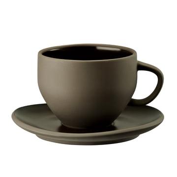 Tasse et sous-tasse Junto de Rosenthal en gris ardoise