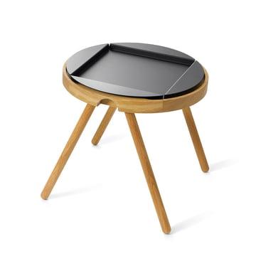 Auerberg - Tablett-Table, petit, Chêne / Plateau en alu noir (set)