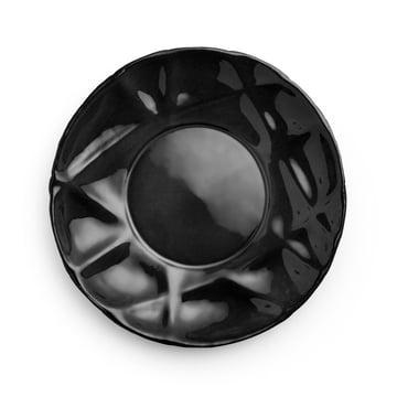 Assiette creuse Succession Ø 23cm de Petite Friture en noir