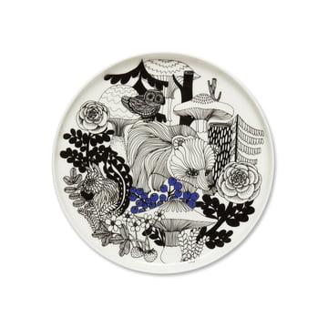 Assiette Veljekset Ø 20 cm de Marimekko en noir / blanc