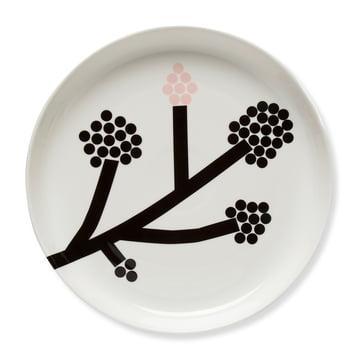 Assiette Hortensia Ø 32 cm de Marimekko en noir / blanc / rose