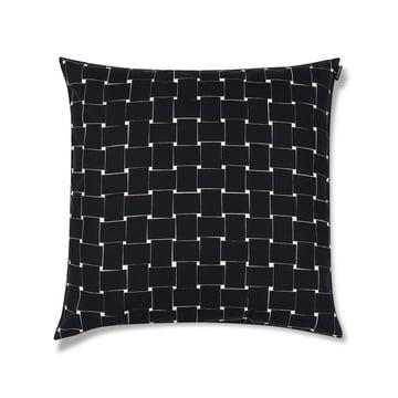 Housse de coussin Basket 50 x 50 cm de Marimekko en noir / blanc