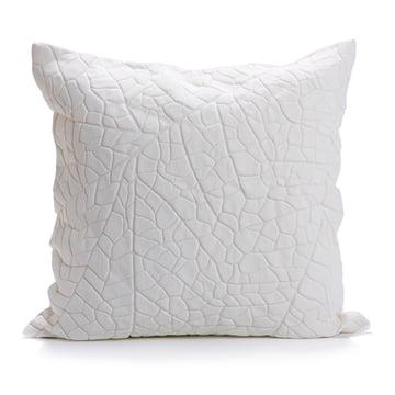 Mika Barr - Housse de coussin Vein, 50x50cm, blanc