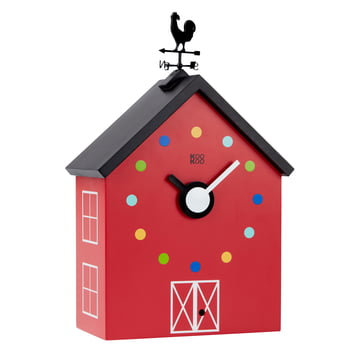 KooKoo - Grande horloge murale RedBarn animaux de ferme