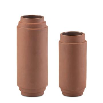 Set de 2 Vase Edge de Skagerak, 20 cm + 25 cm