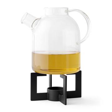 Cast Tea Heater avec théière Kettle de Menu