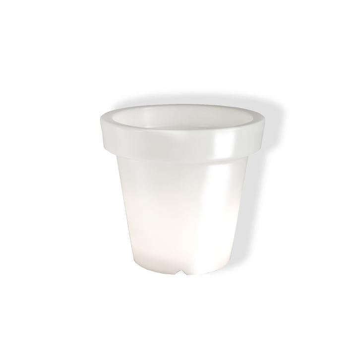 Pot de fleurs, sans lumière - blanc