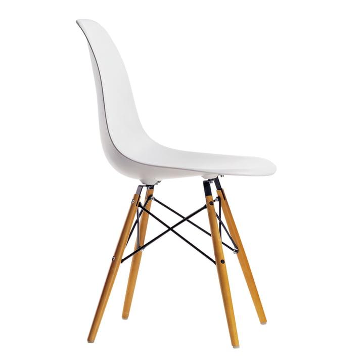 Vitra - Eames Plastic Side Chair DSW, jauni / blanc