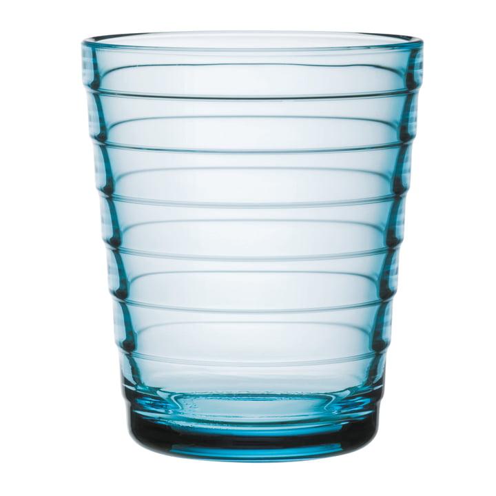 Bécher en verre Aino Aalto 22 cl d'Iittala en bleu clair