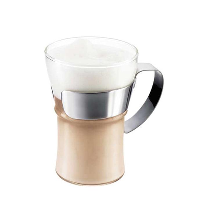Verre à café avec poignée en acier inoxydable Assam de Bodum (lot de2)