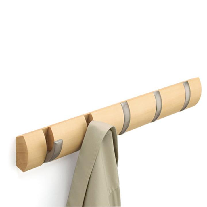 Umbra - Flip Hook Porte-manteau avec 5 pièces en nature