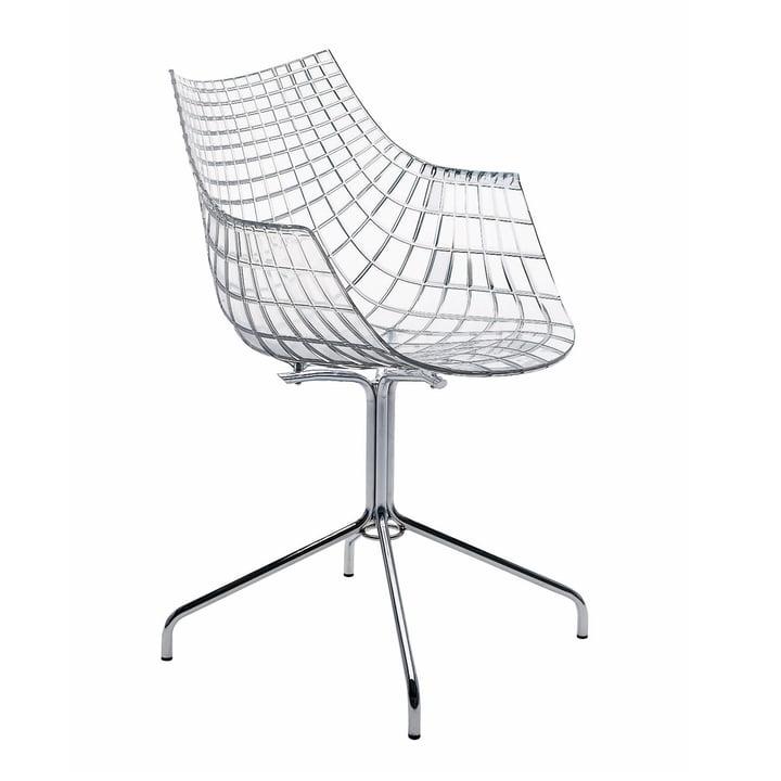 Chaise à accoudoirs Meridiana - transparente