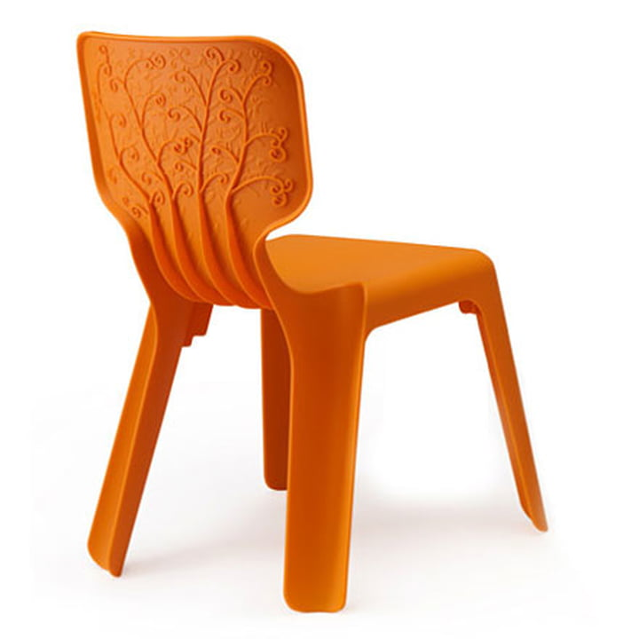 Chaise Alma, orange