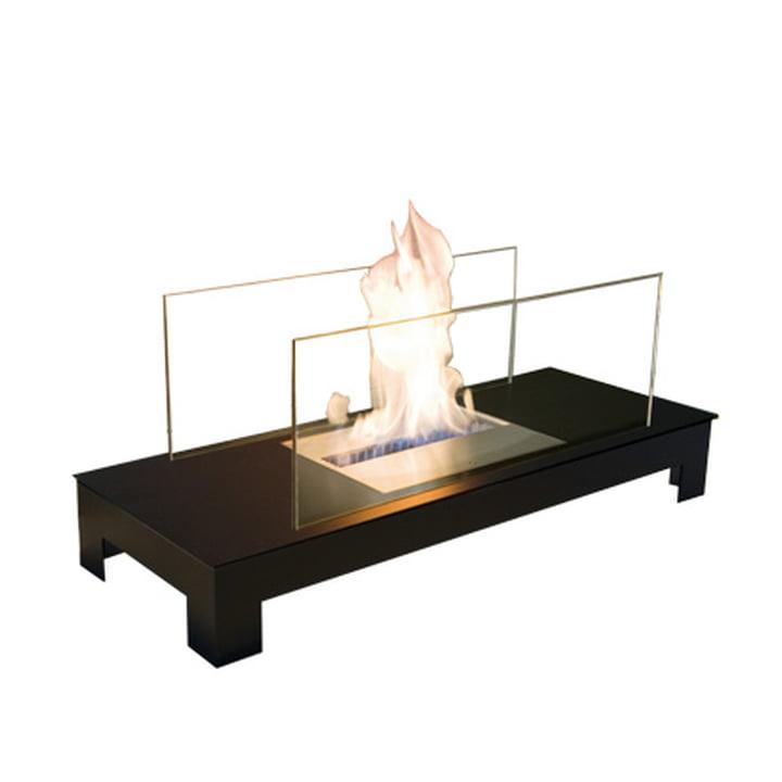 Foyer Floor Flame, acier noir