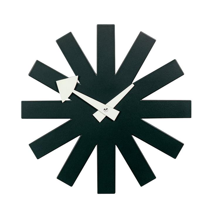 Asterisk Clock noir
