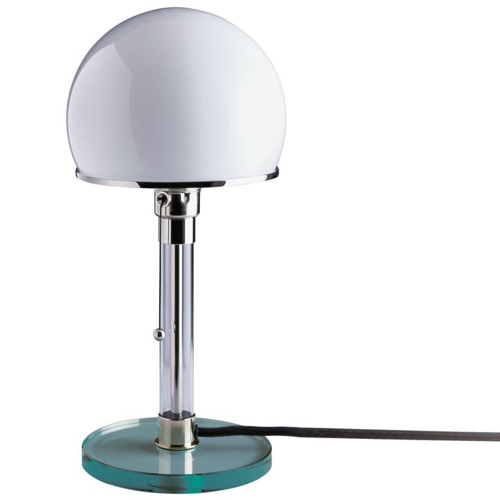 Wagenfeld Lampe WG24 avec pied en verre transparent