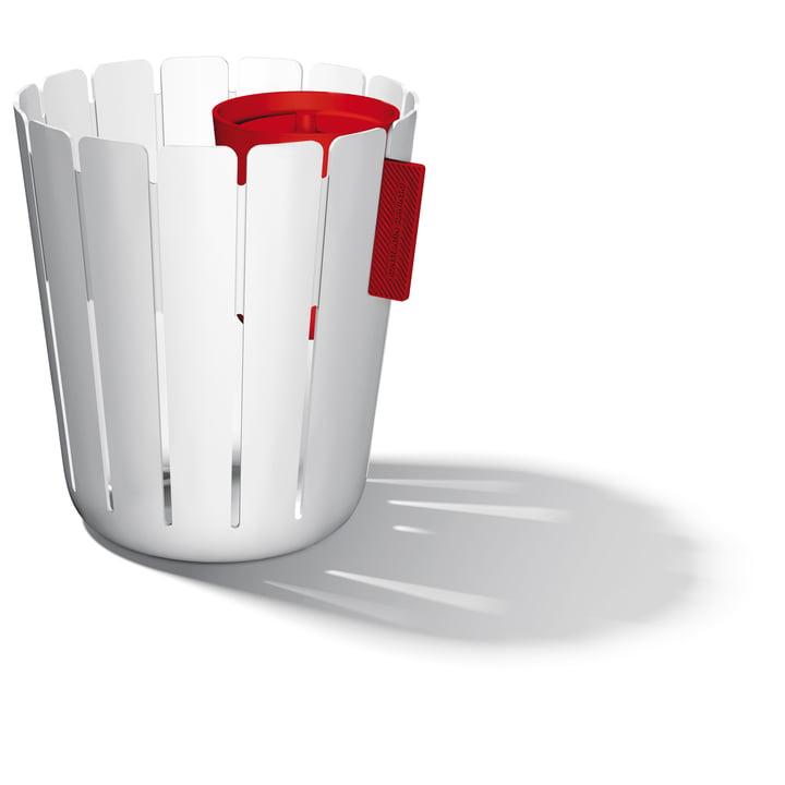Système de poubelles SL17 Basketbin - blanc/rouge