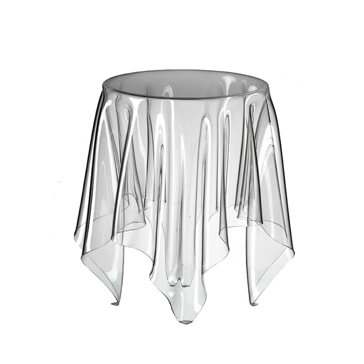 table d'appoint illusion, transparent