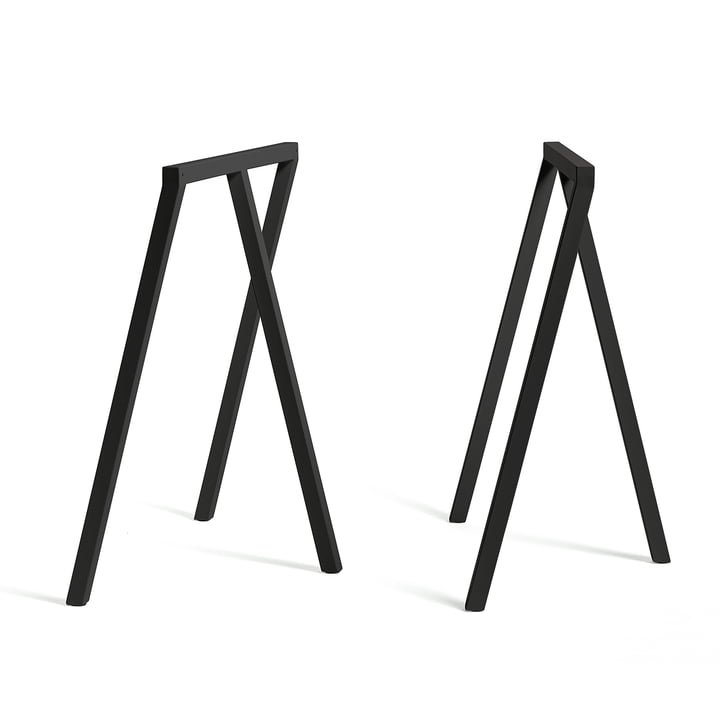 Hay - Tréteaux Loop Stand Frame, noirs (2 pièces)