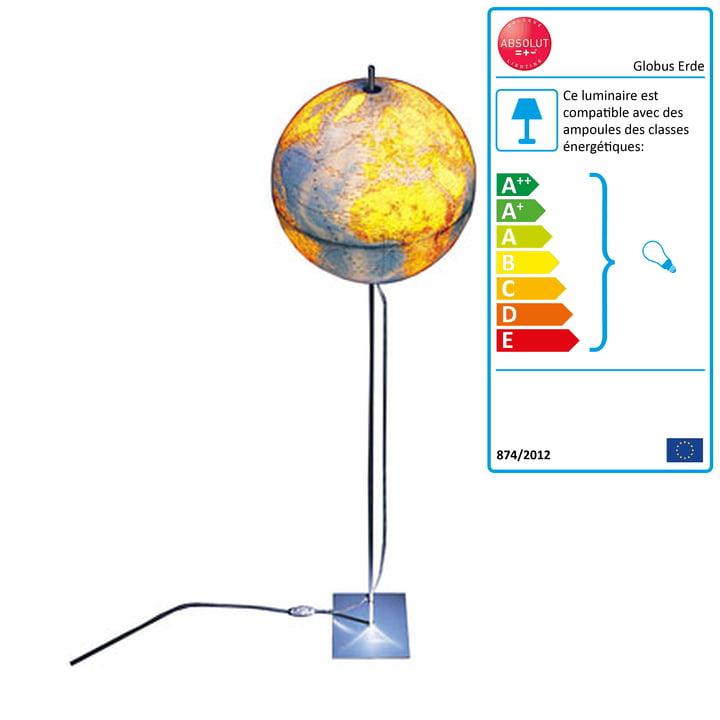 Absolut Lighting - Globe Erde 180 cm, allemand