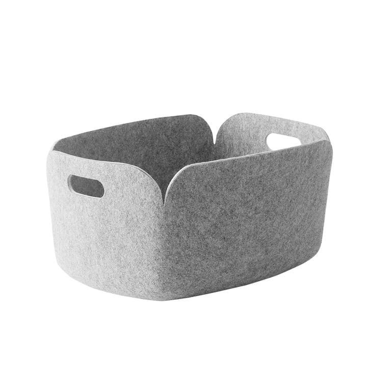 Muuto - Restore Panier de rangement, gris clair