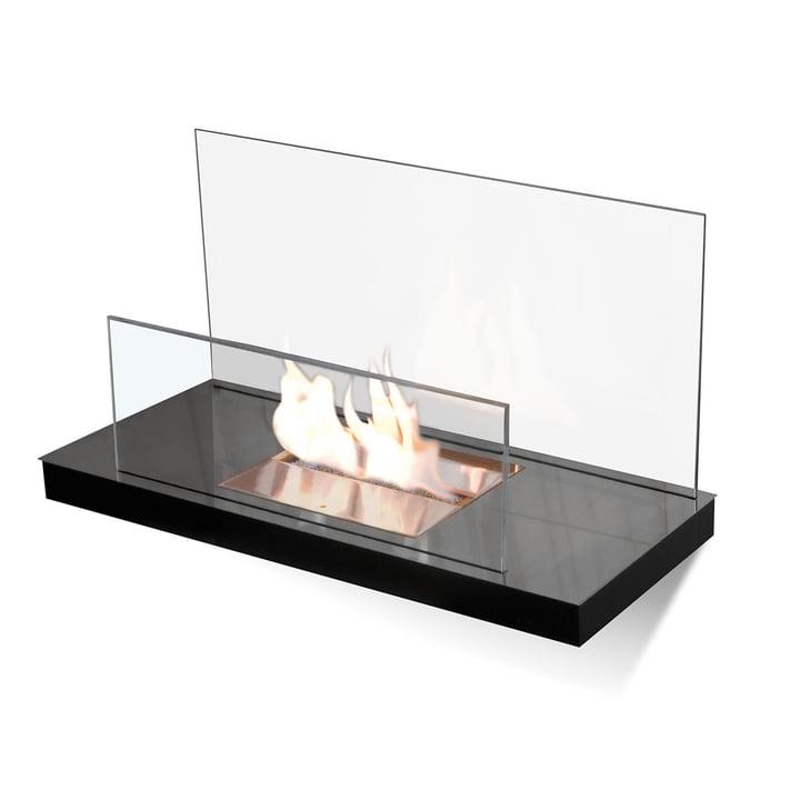Wallflame II - Acier inoxydable, haute brillance/verre, clair