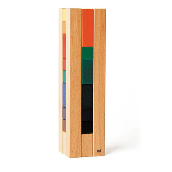 Tour en bois Campanile Naef, multicolore