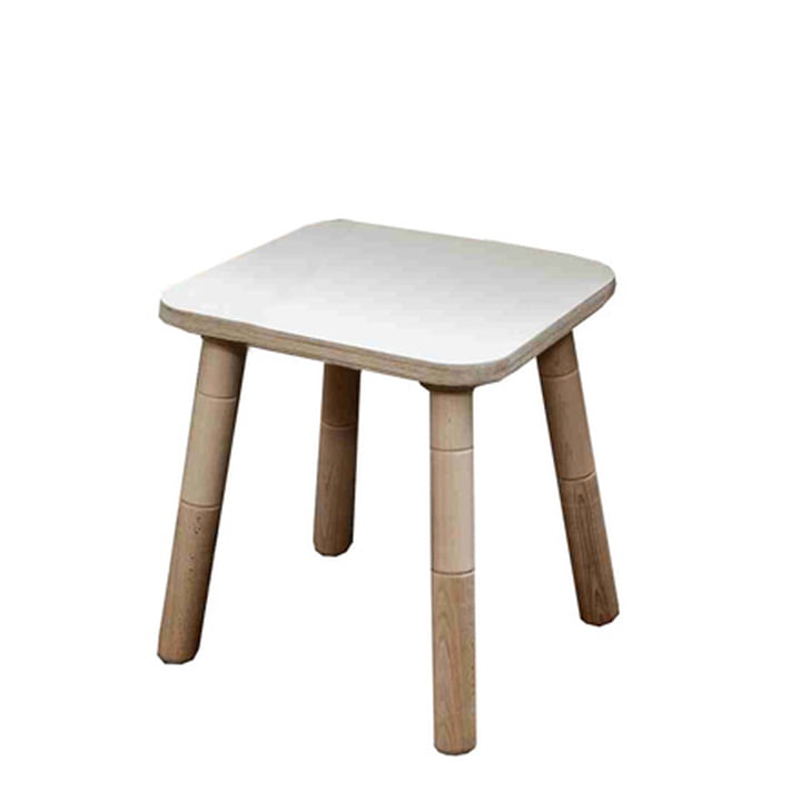 Growing Table - Tabouret, HPL blanc