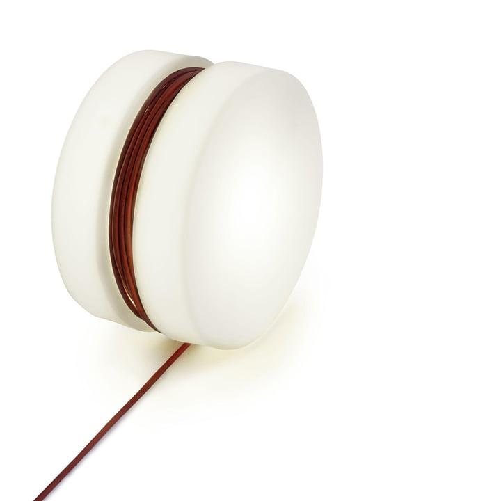 Yoyo lampadaire Ø 47,5 cm de Depot4Design en blanc / rouge