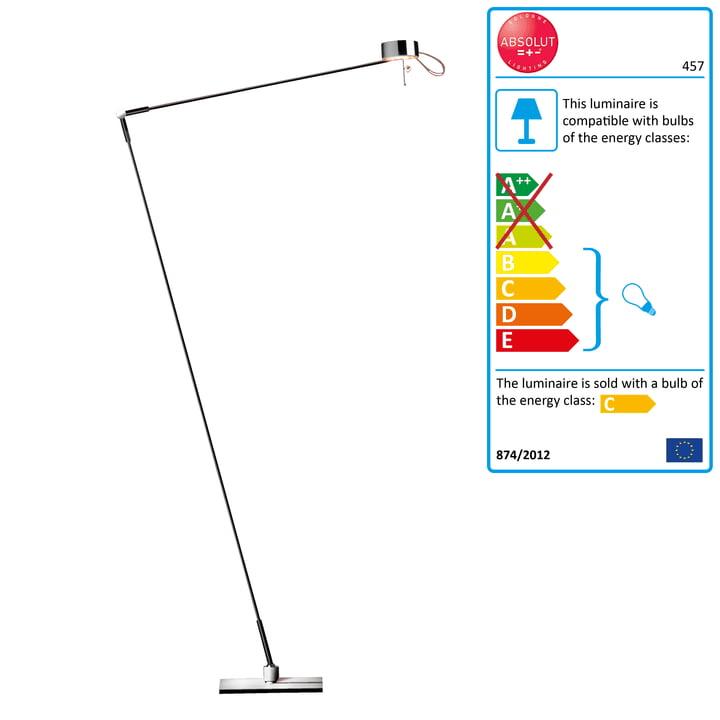 Absolut Lighting lampadaire et lampe de lecture variateur tactile