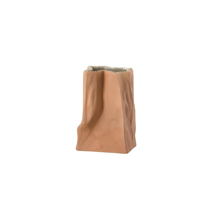 Rosenthal - Vase sac en papier, 14cm, marron clair