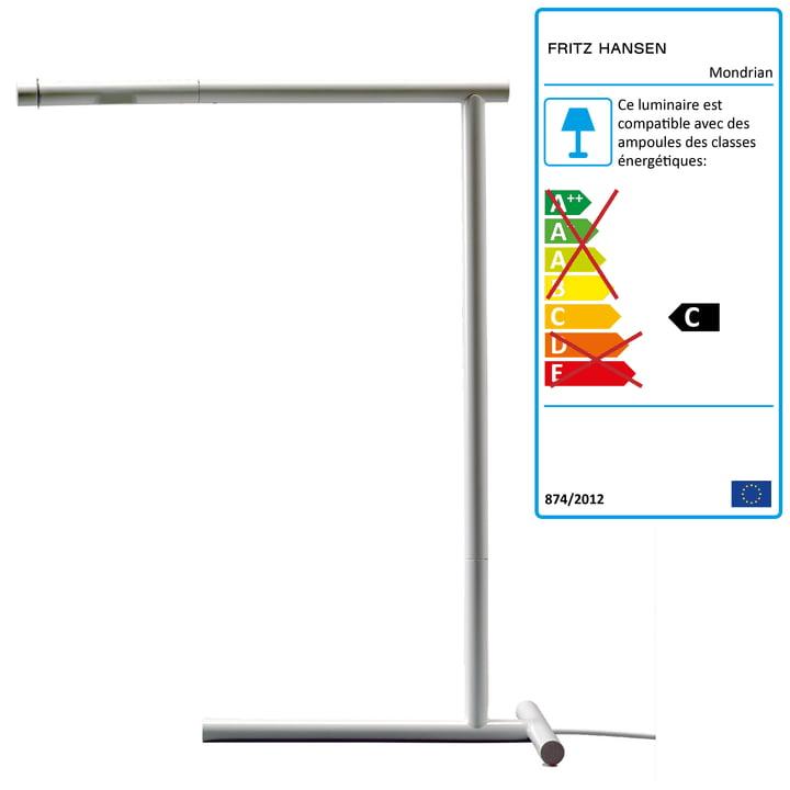 Lightyears - Mondrian Lampe de table , blanc