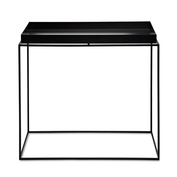 Hay Tray Table carrée, 60 x 40 cm, noir