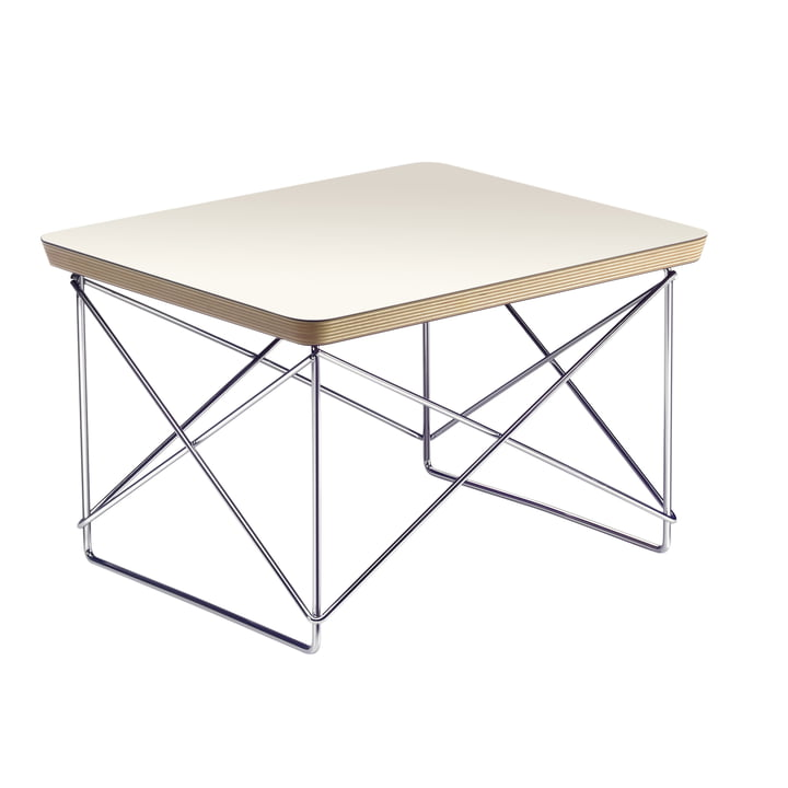 Eames Occasional Table LTR de Vitra dans HPL White / Chrome