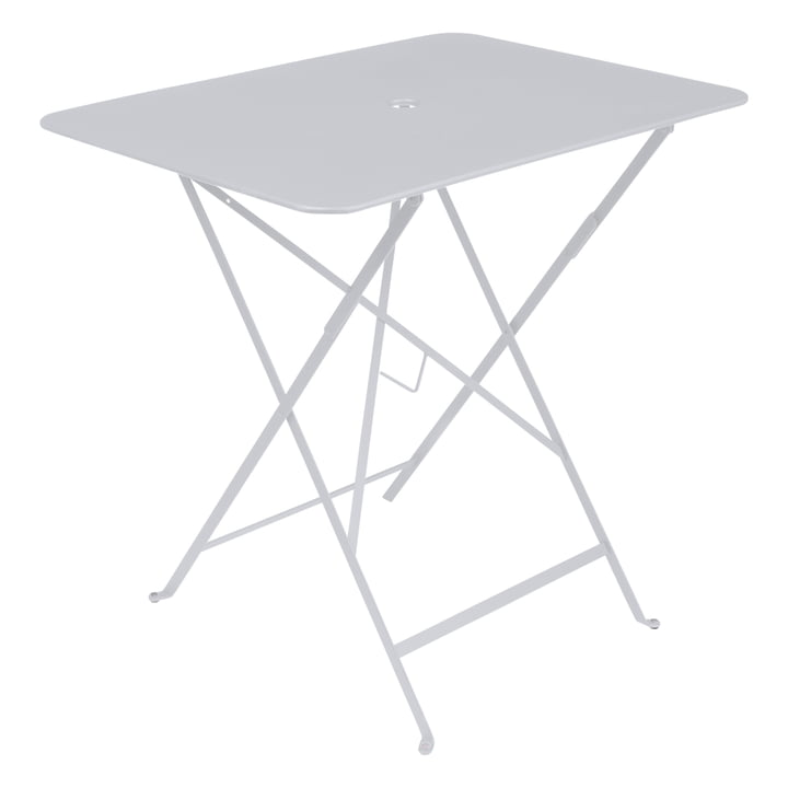 Bistro Table pliante 77 x 57 cm de Fermob en coton blanc