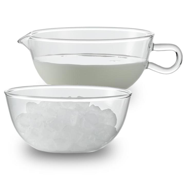 Jenaer Glas - Pot à lait et sucrier Wagenfeld