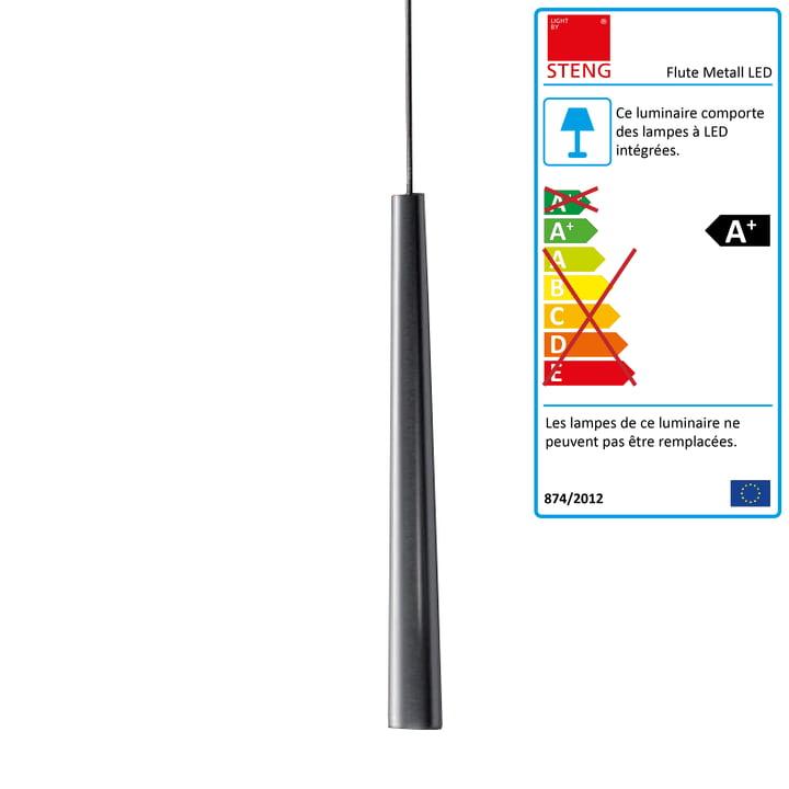 Steng Licht - Suspension lumineuse Flute Metall