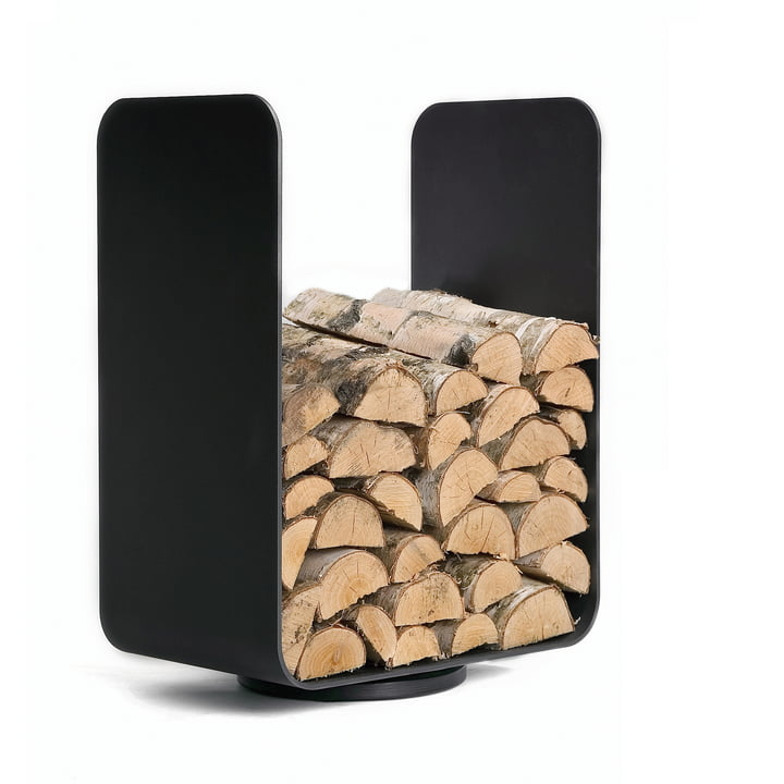Baest - U-Turn Stockage de bois, acier, noir