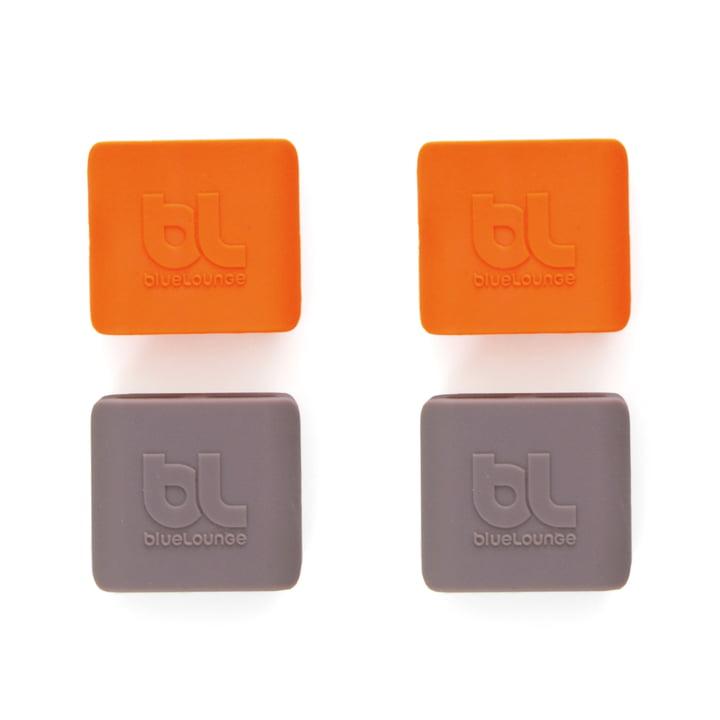 Bluelounge - CableClip, medium: gris et orange