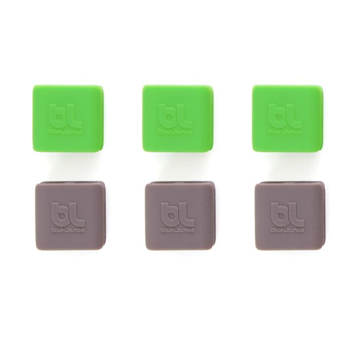 Bluelounge - CableClip, small: vert et gris