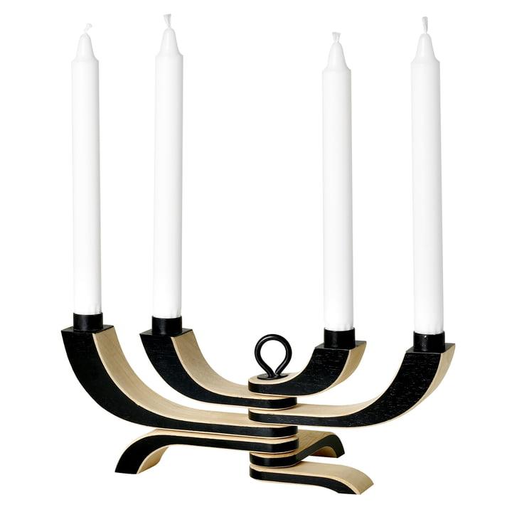 Chandelier Nordic Light de Design House Stockholm à 4 bras et en noir