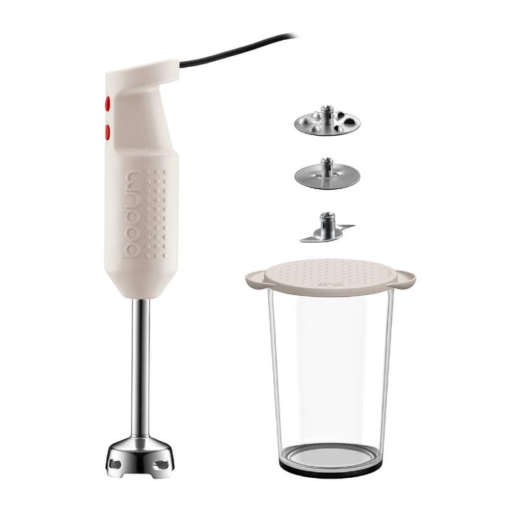 Bodum - Mixeur plongeant Bistro avec accessoires, blanc