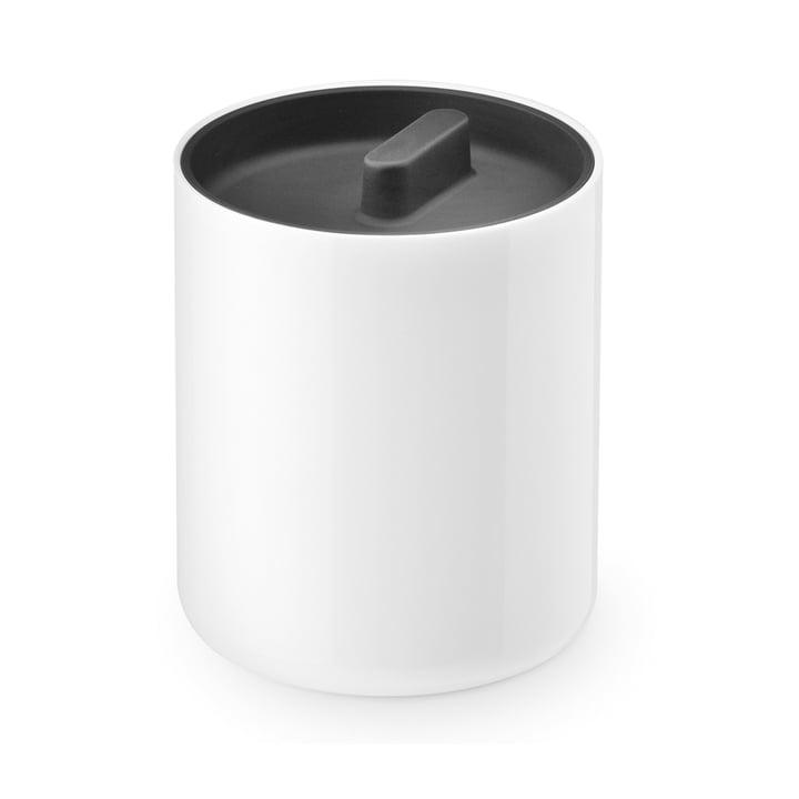 Boîte avec couvercle Lunar d'Authentics en blanc / noir